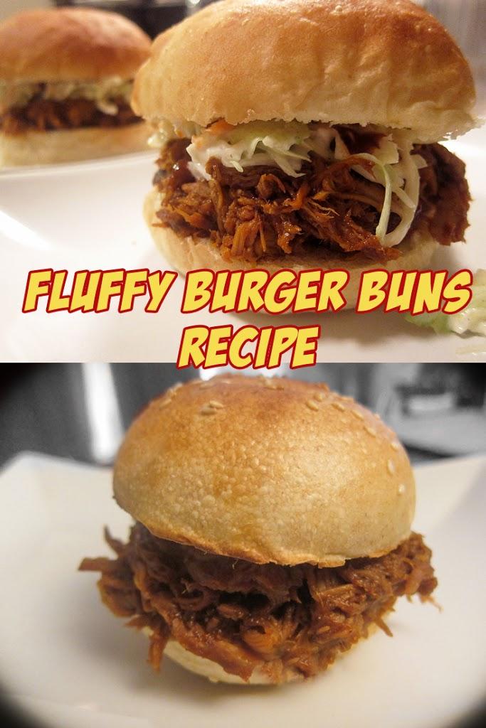 fluffy brioche burger buns pinterest image