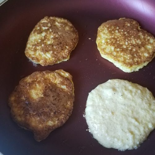 cauliflower pancake fritter fluffy savory breakfast